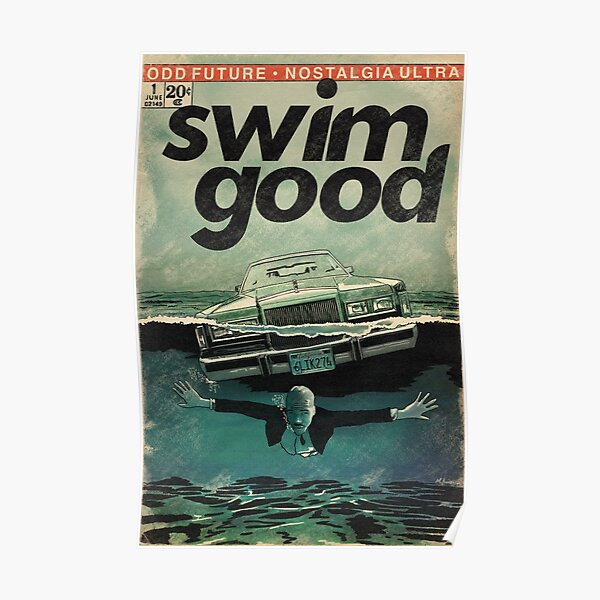 Frank Ocean Swim Good Comic Book Parody Art Poster