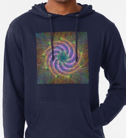 Optical lines Lightweight Hoodie