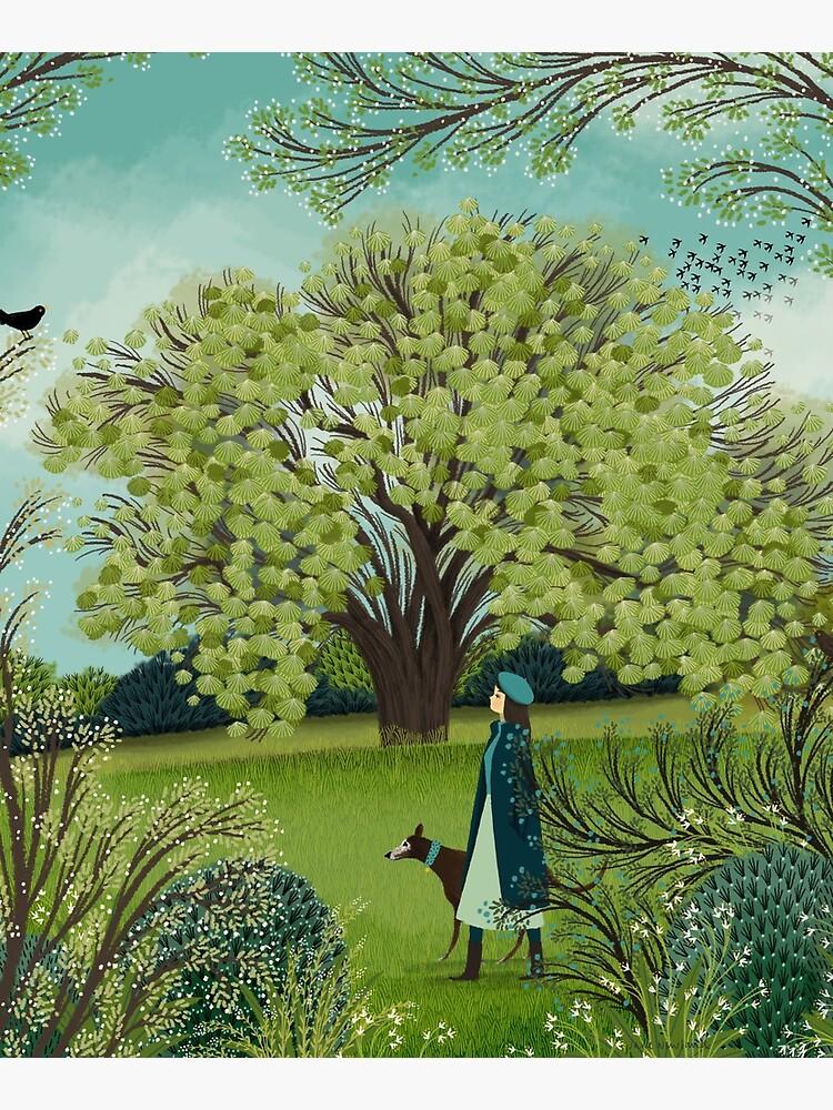 SPRING DOG WALK by Jane-Newland
