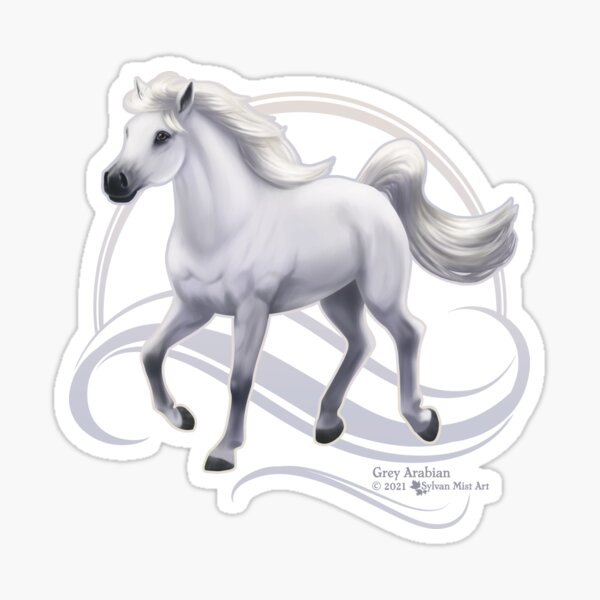 Grey Arabian Horse Sticker