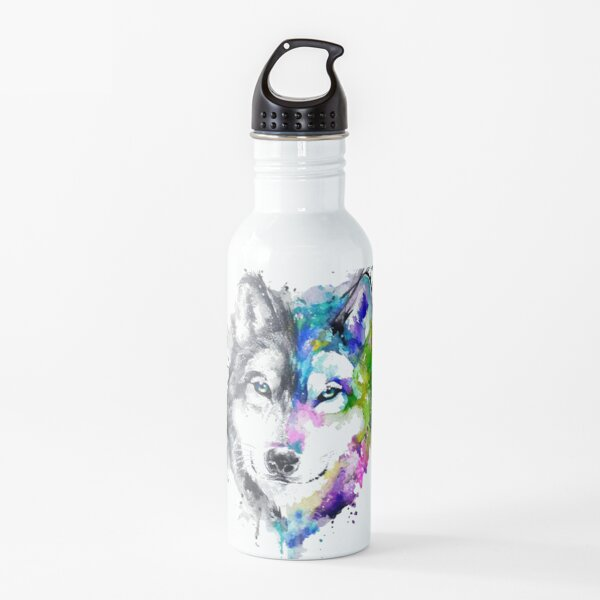 Grey Wolf Classic Design Water Bottle