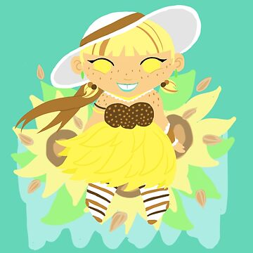 Chubby Princess in Sunflowers! by gunkers
