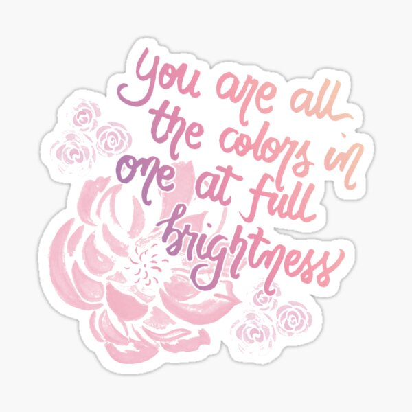 All The Bright Places #1 <3 Sticker