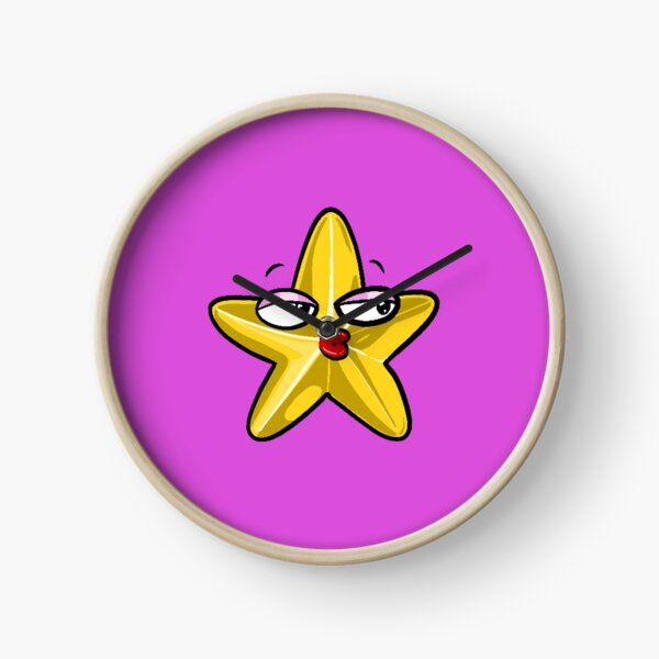 Flirty Gold Star Clock