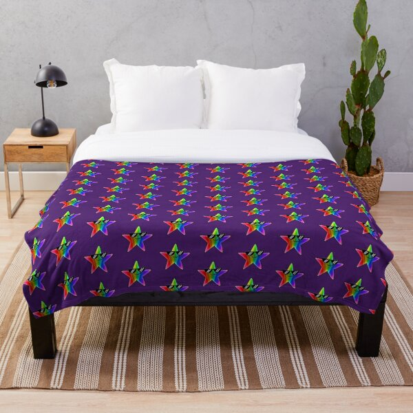 Cool Rainbow Star Throw Blanket