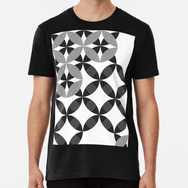 Geometric black and white pattern #geometric #blackandwhite #mosaic Premium T-Shirt