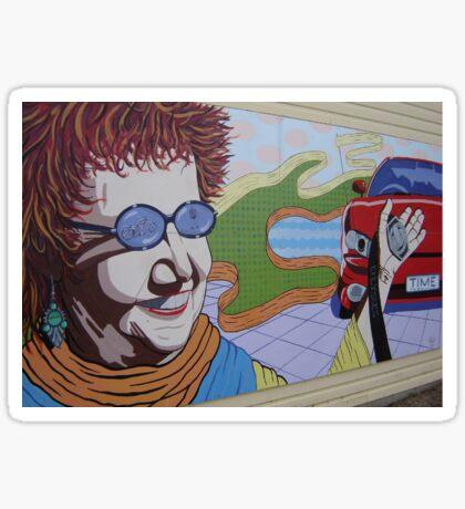 Lady Mural Sticker