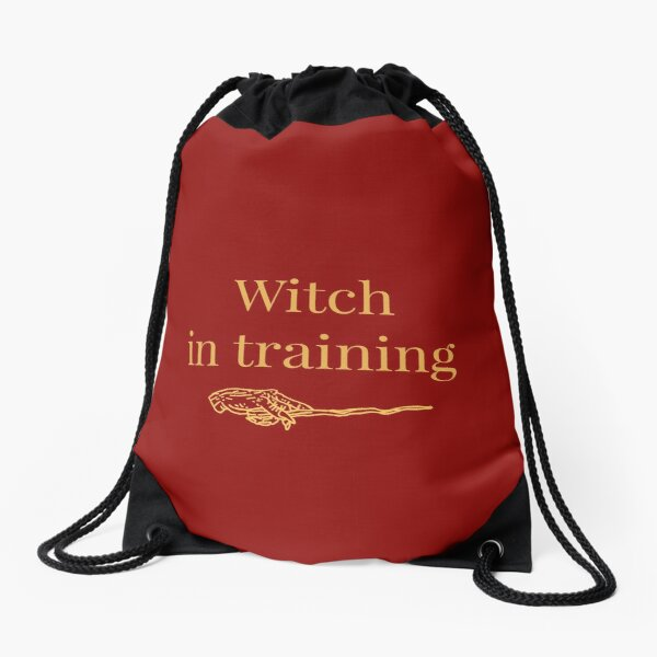 Witch in training Drawstring Bag