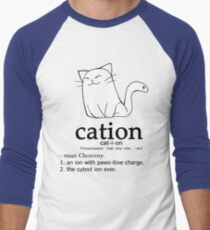 Cat-ion science puns Men's Baseball ¾ T-Shirt