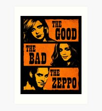 The Good The Bad The Zeppo Art Print