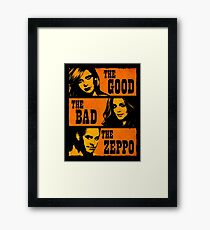 The Good The Bad The Zeppo Framed Print