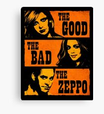 The Good The Bad The Zeppo Canvas Print