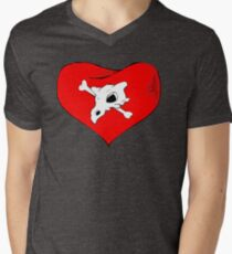 cubone loves mommy Men's V-Neck T-Shirt