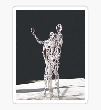 Silver Statues Sticker