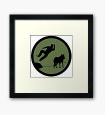 4chan /Out Patch - Bodyslam! Framed Print