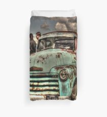 Rusty Chevrolet HDR Duvet Cover
