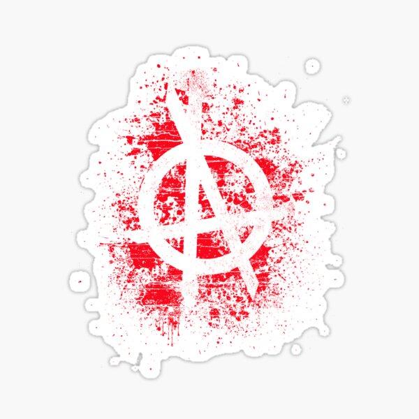 Logotipo OPA Red Splatter Pegatina