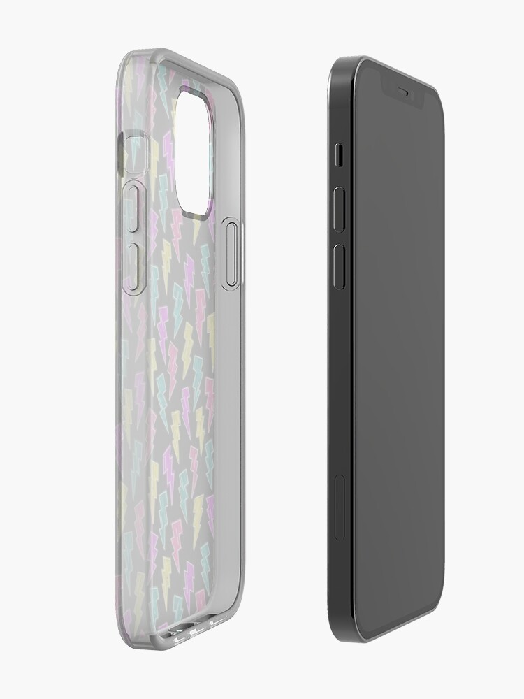 Alternate view of Neon Lightning Bolts  iPhone Case & Cover