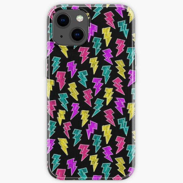 Neon Lightning Bolts  iPhone Soft Case