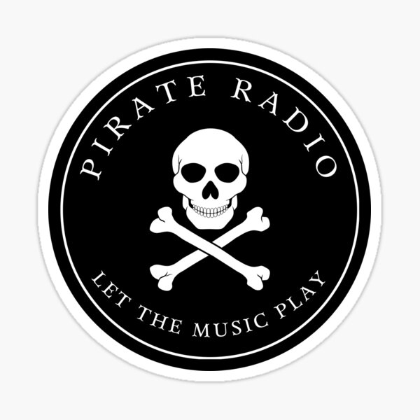 Pirate Radio   Let The Music Play Sticker