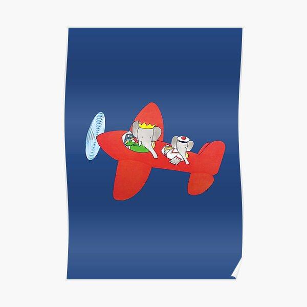 Babar dans un avion Poster