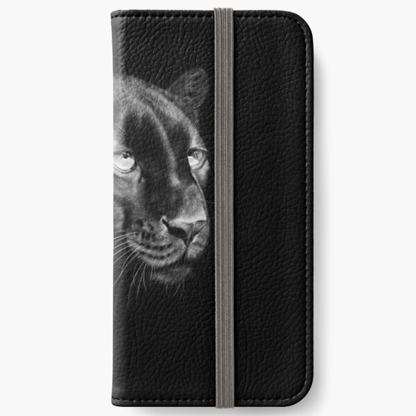 Black Panther Black and White Artwork iPhone Wallet