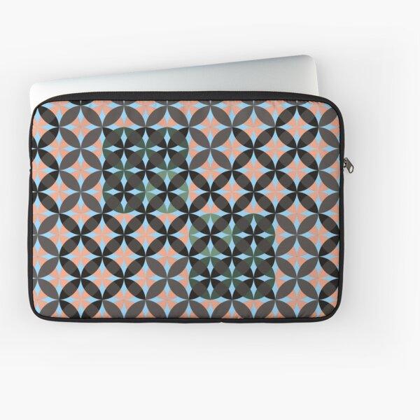 Geometric dark orangish pattern #geometric #orange #emerald #blue #mosaic Laptop Sleeve