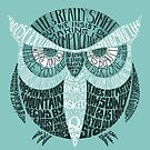 Wise Old Owl Says (in Green) by littleclyde