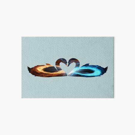 Twin Flame Swans Art Board Print