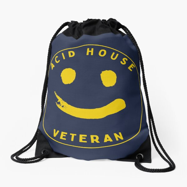 Acid House Veteran Drawstring Bag