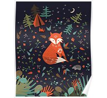 Camping With Fox Poster