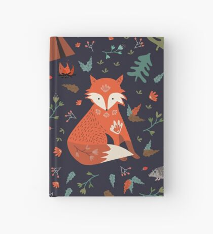 Camping With Fox Hardcover Journal