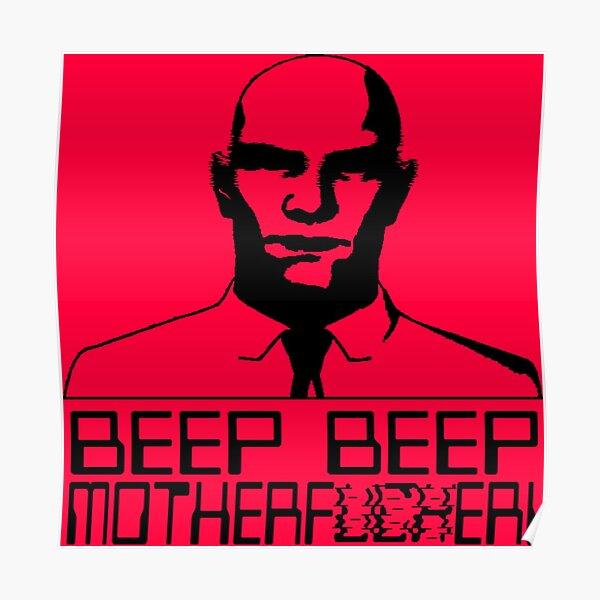 BEEP BEEP MOTHERF***KER Cyberpunk Poster