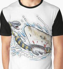 Tiger snake V Grey Nurse Shark Graphic T-Shirt