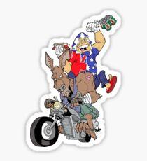 Down-Underian's bike ride Sticker