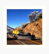 Arizona Snowplow Art Print