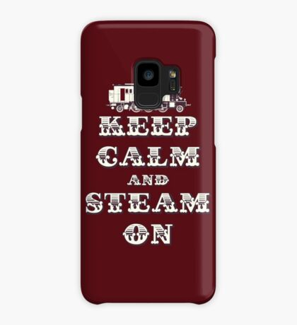 Keep Calm and Steam On Steam Engine #1B Case/Skin for Samsung Galaxy