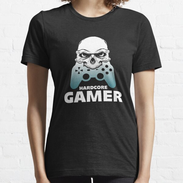 Hardcore Gamer Skull Eating Gamepad Gaming Gift Essential T-Shirt