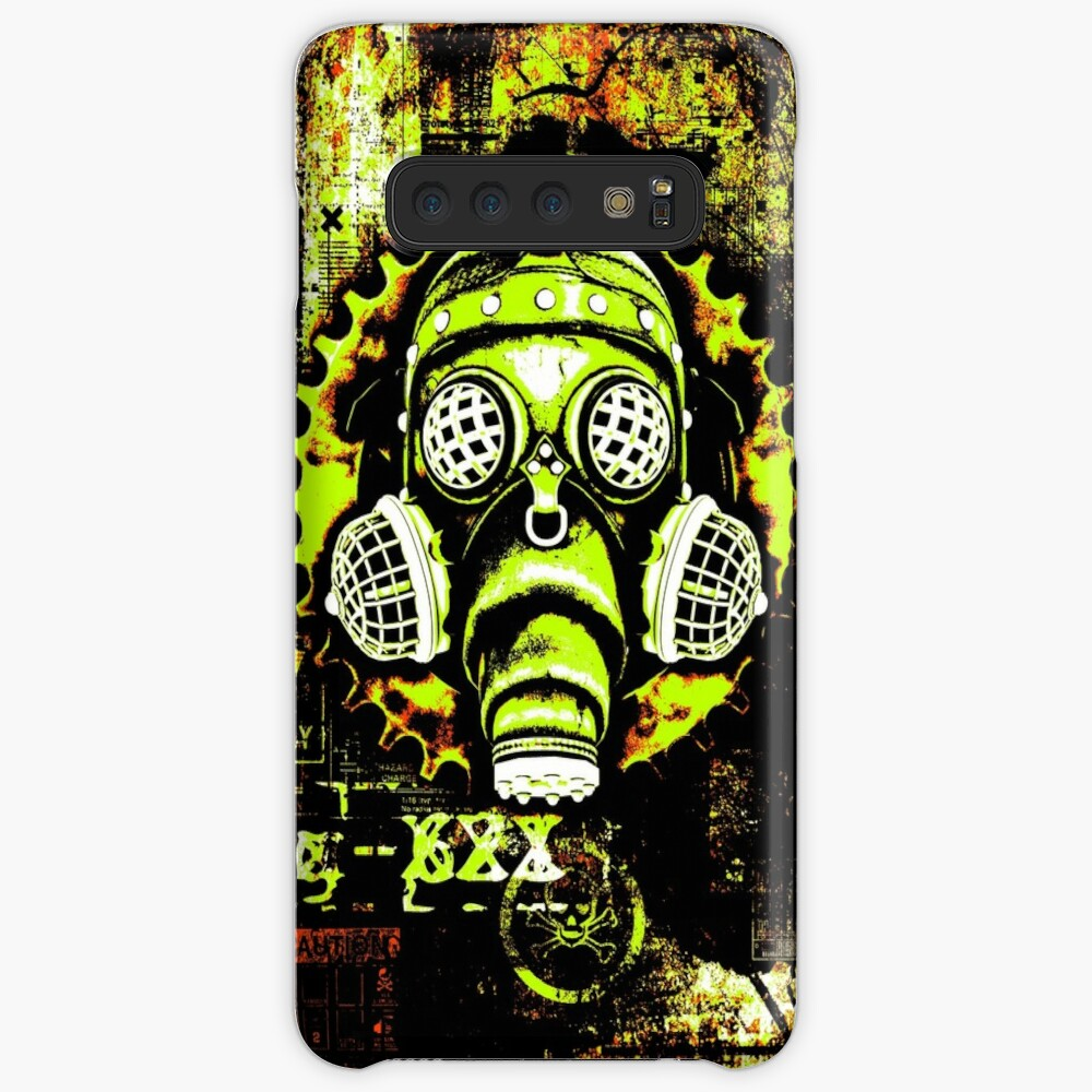 Steampunk / Cyberpunk Gas Mask Posterized Version Case & Skin for Samsung Galaxy