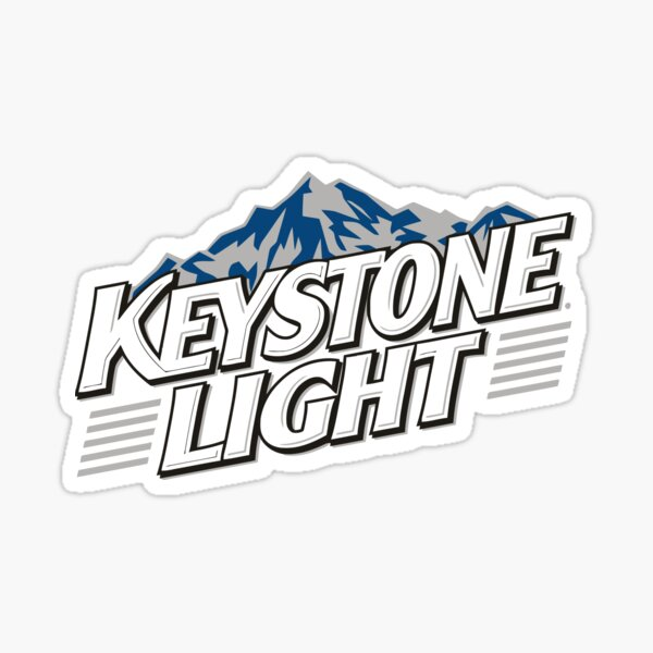 Cerveza ligera keystone Pegatina