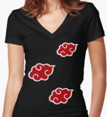 Akatsuki Q Women's Fitted V-Neck T-Shirt