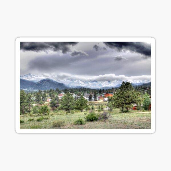 Estes Park, Colorado in HDR Sticker