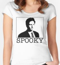 Spooky Mulder Women's Fitted Scoop T-Shirt