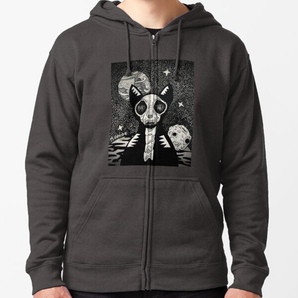 OuTeRSpAcE Skele-kitty 2 Zipped Hoodie