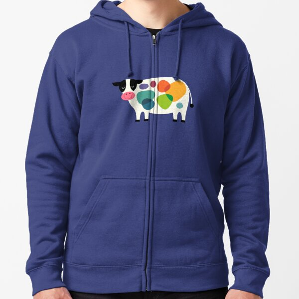 Awesome Cow Zipped Hoodie