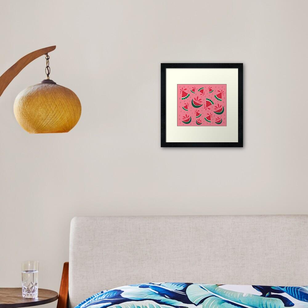 Watermelon Splash Framed Art Print