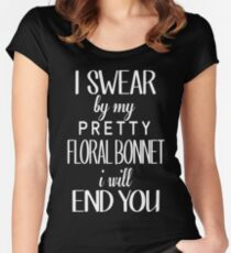 floral bonnet Women's Fitted Scoop T-Shirt