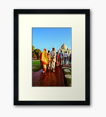 Indian Tourist at Taj Mahal Framed Print