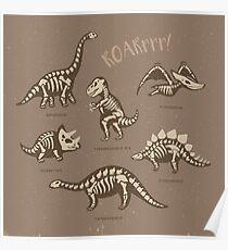 Dinosaur skeletons Poster