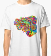 Psychedelizard Psychedelic Chameleon Colorful Rainbow Lizard Classic T-Shirt